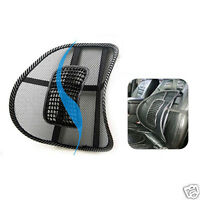 Hot!Black Chair Seat Back Mesh Lumbar Cushion Pad Support for Car Office Home