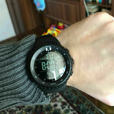 New Men Watch All Black Military Outdoor Sports Unisex Watch