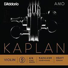D'Addario Kaplan Amo Violin G String, 4/4 Scale, Heavy Tension