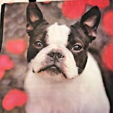 Boston Terrier Dog Puppy Large 100% Recyclable Reusable Eco Shopping Tote Bag