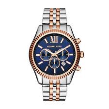 Michael Kors MK8412 Lexington Chronograph Navy Dial Two tone Unisex Wrist Watch
