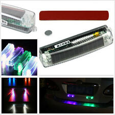 LED Wireless Solar Power Strobe Light Car SUV Grille Dash Deck DRL Colorful Lamp