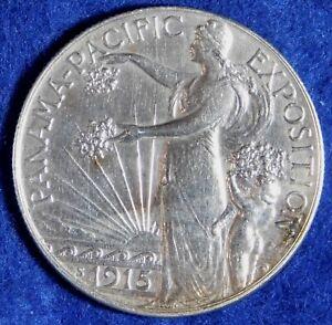 1915-S 50c Panama Pacific Expo. Commemorative Silver Half Dollar