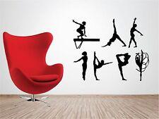 7 x GYMNASTICS vinyl wall art sticker children bedroom gymnast acrobatics GYM