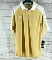 Adidas Climalite Mens Modern Varsity Polo Sand White Size L
