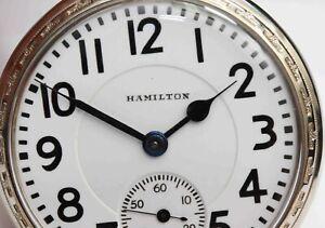 992 HAMILTON RAILROAD GRADE 21 Jewel POCKET WATCH c.1925 - EXCELLENT+