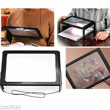 3X LED Lighted Table Magnifier Magnifying Glass Lamp A4 Reading Aid Loupe