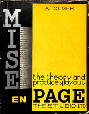 Mise en Page The Theory and Practice of Lay-Out 1931 by A. Tolmer The Studio Ltd