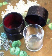 verre Curiste Napoléon III cristal Baccarat & étui carton bouilli Pont-à-Mousson