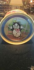 Rare 1970's Vintage Small Otagiri Dancing Cat Music Box Plays Flash Dance Works!