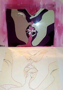LA BLUE GIRL JAPANESE ANIME PRODUCTION SETUP OF KAMIRI AND KUGUTSUMEN, 1992, NM