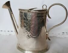 More details for beautiful vintage silver (plate?) mappin & webb watering can novelty creamer