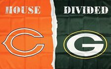 Chicago Bears vs Green Bay Packers House Divided Flag 3x5 ft Sports Banner NFL
