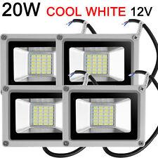 4x 20W Cool White LED Flood Light Outdoor Garden Yard Landscape Lighting 12V