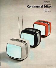 PUBLICITE  1976   CONTINENTAL  EDISON  téléviseur portable
