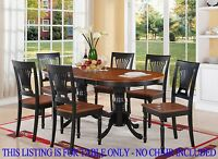 ONE OVAL DINETTE KITCHEN DINING TABLE 42x78 WITHOUT CHAIR IN BLACK & CHERRY