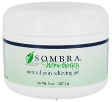 NEW SOMBRA WARM THERAPY 8oz JAR PAIN RELIEVING GEL FOR ARTHRITIS & STRAINS