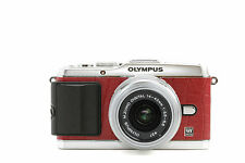 Camera Leather decoration stickers for Olympus PEN E-P3 Crocodile Red Type