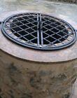 puits,grille de protection en fer forgé,fer plat de 20x10 mm