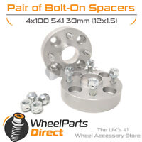 Bolt-On Wheel Spacers (2) 4x100 54.1 30mm for Mazda MX-5 [Mk1] 89-97