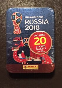 Panini World Cup 2018 Collectors Tin Sealed With 20 Packs Of Stickers