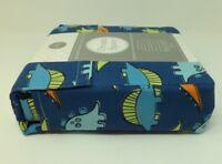 Dream Space KIDS Dino Dinosaur FULL Sheet Set w/Pillowcases Blue Orange Green