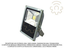 Dura proiettore led faro faretto 35w slim mm 190x80x250h luce naturale 4000k 250