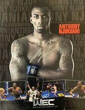 MMA Anthony Njokuani Autographed 8x10 Photo World Extreme Cagefighting (WEC)