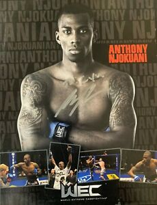 MMA Anthony Njokuani Autographed 8x10 Photo World Extreme Cagefighting (WEC)
