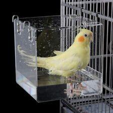 Bird Bathtub Cage Pet Bird Bath House With Metal Hanging Hook Cage Water