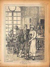 Soldats Poilus Mutilés Hôpital Infirmières Nurses/Paravents Jeanne Thil 1918 WWI