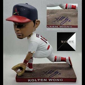 St Louis Cardinals SGA Kolten Wong Autographed Signed Glove Bobblehead 9/29/2021