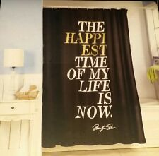"""Marilyn Monroe """"The Happiest Time Of My Life Is Now"""" Shower Fabric Curtain"""
