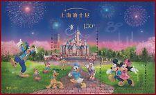 China 2016-14 Shanghai Disney Resort stamp sheet MNH