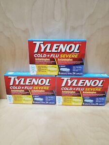 Tylenol Cold + Flu Severe Caplets With Acetaminophen Exp 6/21, 3 Packs