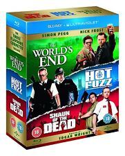 The World's End + Hot Fuzz + Shaun of the Dead (Blu-ray, 3 Discs, Region Free)