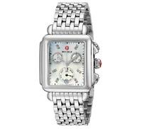 New Michele Deco Day MOP Diamond Dial Chronograph MWW06P000014 Ladies Watch