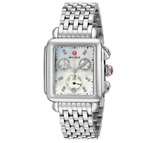 New Michele Deco Day MOP Diamond Dial Chronograph MWW06P000014 Ladies Watch