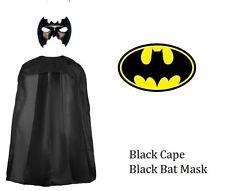 Bat Girl Bat Man Fancy Dress Cape Mask Vest Ladies Mens Hen Stag Superhero Sets