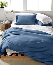 Calvin Klein Modern Duvet Cover Metallic Lust Dusk Blue Sparkle FULL QUEEN
