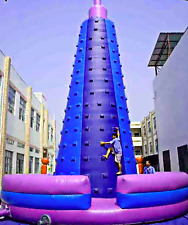 30x30x35 Commercial Inflatable Rock Climbing Tower Bounce House Obstacle Course