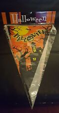 Happy Halloween Spooky Pennants Bunting Party Decorations Orange haunted house