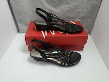 Impo Womens Roma Open Toe Casual Strappy Sandals, Black, Size 7.5 M