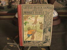 Vintage Children's Book Little Black Sambo and the Monkey People 1928