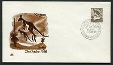 Australia 1959 9d Kangaroo - Royal Unaddressed Fdc