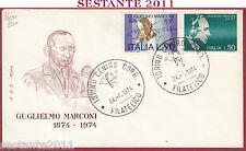 ITALIA FDC ROMA GUGLIELMO MARCONI 1974 ANNULLO TORINO Y799