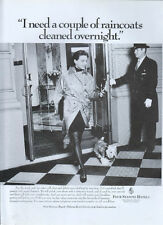"four Seasons Hotels ""i Need A Couple Of Raincoats"" 1995 Magazine Advert #4046"