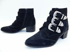 1afa602ec7d557 ASOS Damen Schuhe Biker Stiefel Ankle Boots Stiefeletten Leder Gr 40 UK 6