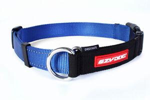 EzyDog Checkmate Martingale Trainign Dog Collar Stops Pulling Half Choke