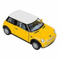 RI Novelty - Pull Back Die-Cast Metal Vehicle - MINI COOPER (Yellow)(5 inch) New